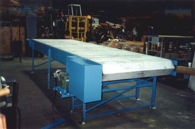 Armorbelt is a heavy duty, steel belt conveyor.