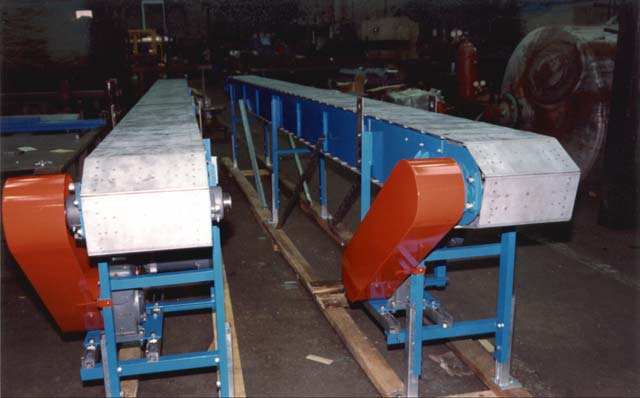 Armorbelt metal belt conveyors.