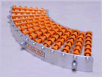 Trackwheel was designed for conveyor curves and bends.