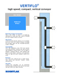 Vertiflo high speed vertical conveyor brochure.