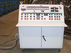 Kornylak's central control panel allows one person to control the entire building panel line. Click to enlarge.