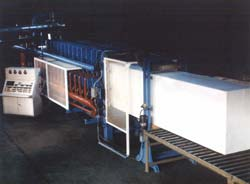 Block Molded expanded polystyrene insulation machines for fabricating insulation panels of all types.