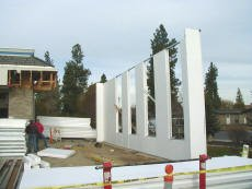 This is a picture of EPS Structural Panels. Picture courtesy of the R-Steel.