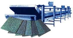 Kornylak manufactures Rebonder for continues production of bonded carpet underlayment.