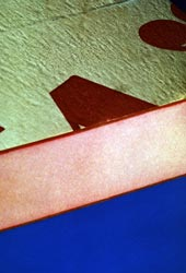 Here is a sample of a Phenolic foam integral skin panel. Click to enlarge.