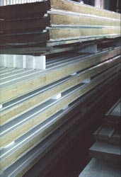 Stran Steel foam core steel building panels. Click to enlarge.