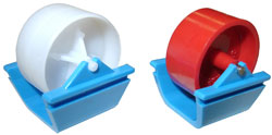 Kornylak's Mini-Wheels� are for lightweight conveyors such as carton flow and gravity flow racks.